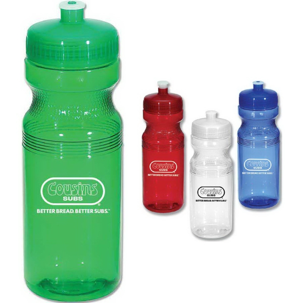 Promotional Poly Clear Sports Bottle, 24 oz