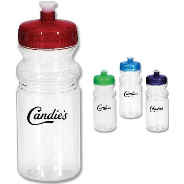 Customized Poly Clear Sports Bottle, 20 oz