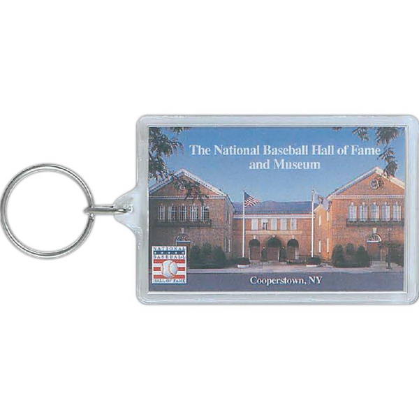 Promotional Acrylic Jumbo Rectangle Key Tag
