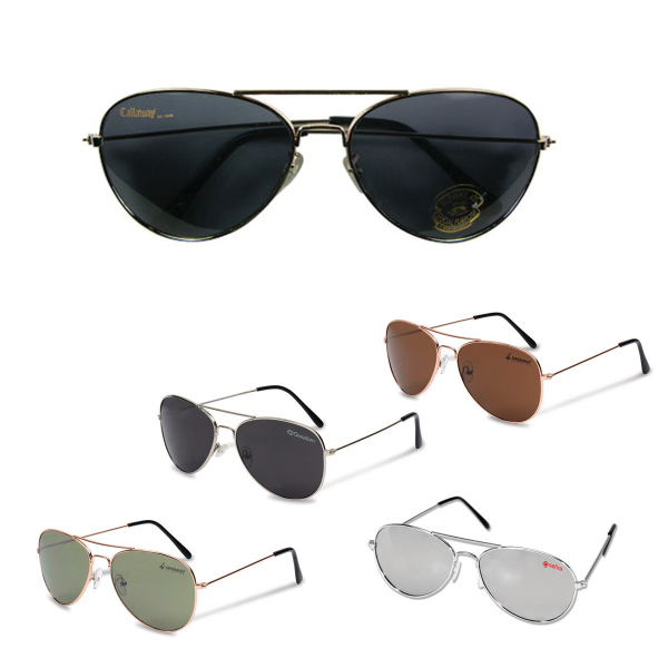 Custom Pilot I Aviator Sunglasses