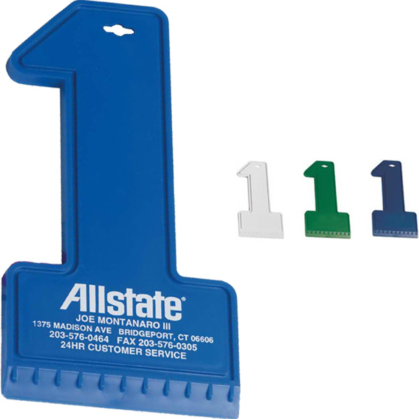 Imprinted Number One Ice Scraper