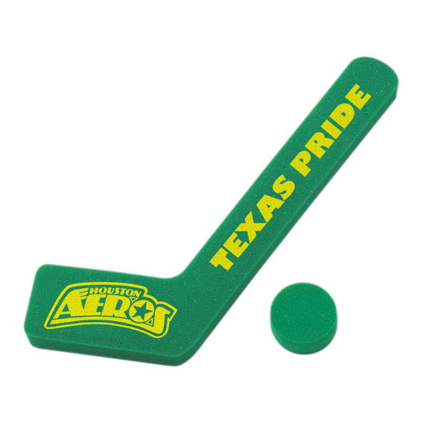 Printed Foam Hockey Stick and Puck