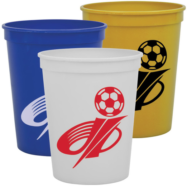 Customized Cups-On-The Go 16 oz Stadium Cups Solid Colors