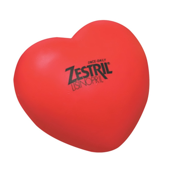 Imprinted Heart Shape Stress reliever