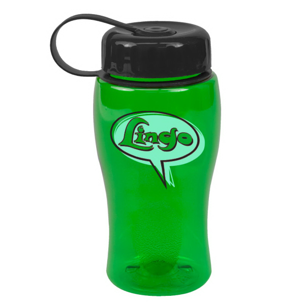 Printed Poly-Pure Junior 18 oz Transparent Bottles