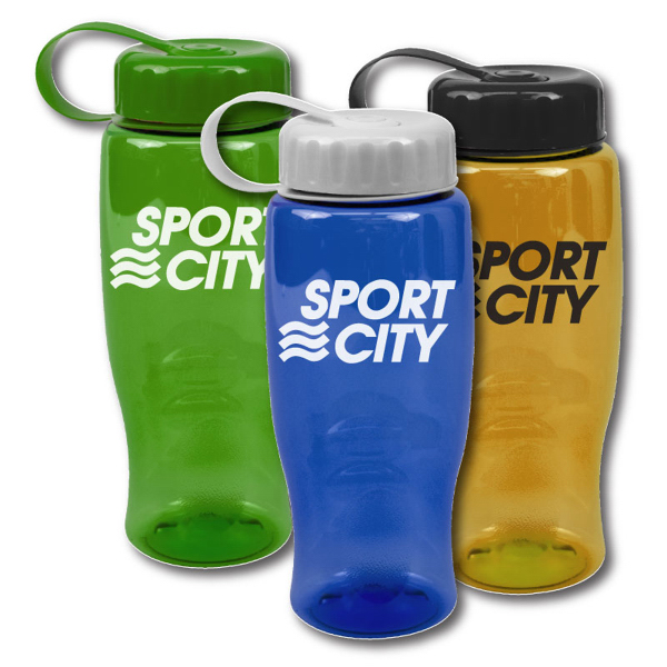 Promotional Poly-Pure 27 oz Transparent Bottles