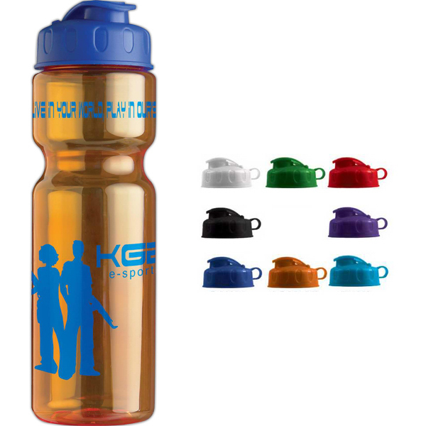 Imprinted The Olympian 28 oz Transparent Bottle