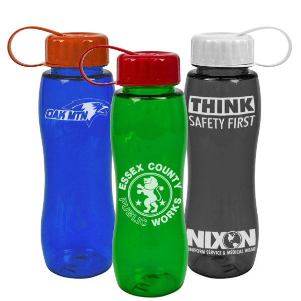 Promotional Poly-Pure Slim Grip Sports Bottle