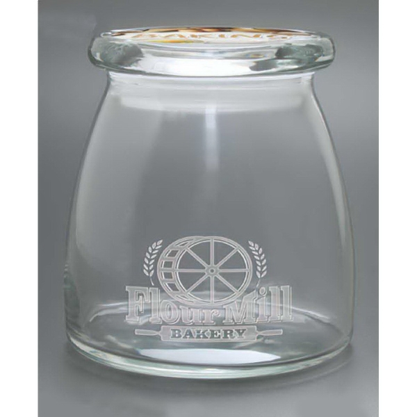 Promotional Large Vibe Candy Jar with Flat Lid