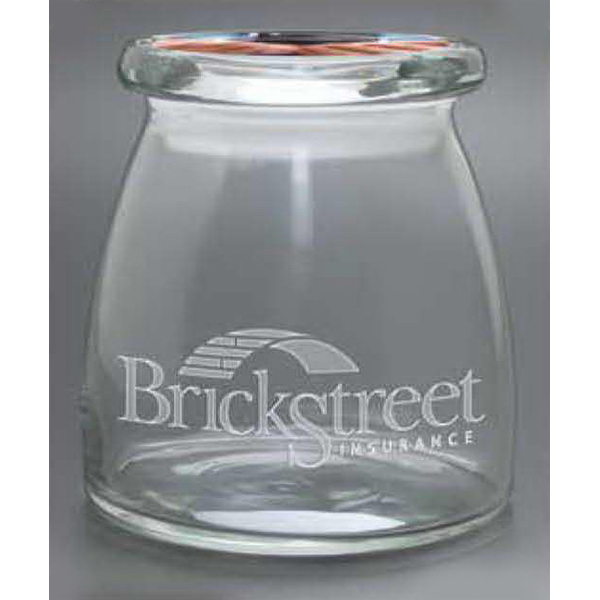 Personalized Vive Candy Jar with Flat Lid