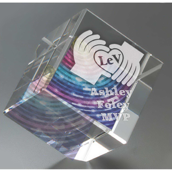 Promotional Tilting Cube Award