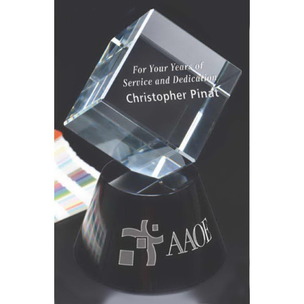Customized Tilting Cube on Base Award