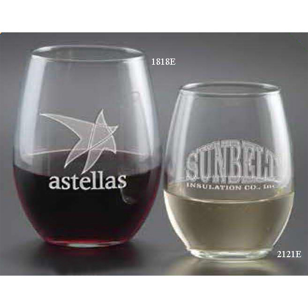 Personalized Stemless White Wine Glass