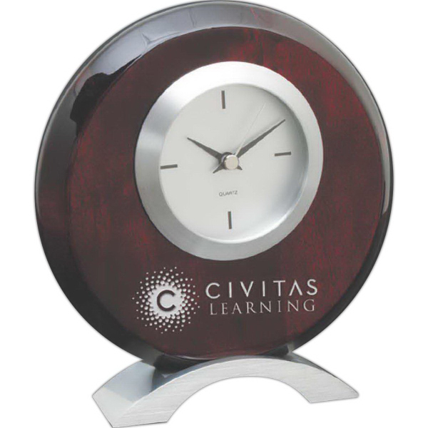 Personalized Elm Classic rosewood with metal clock