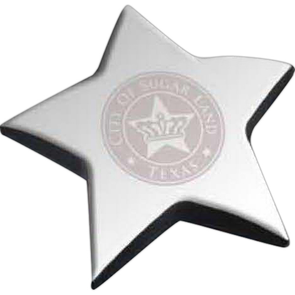Personalized Star shape paperweight