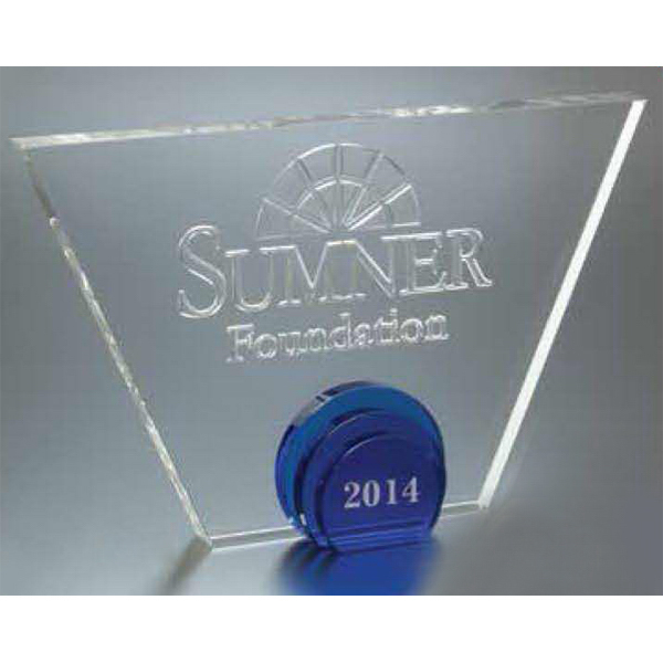 Personalized Large Andover Tri Circle Award