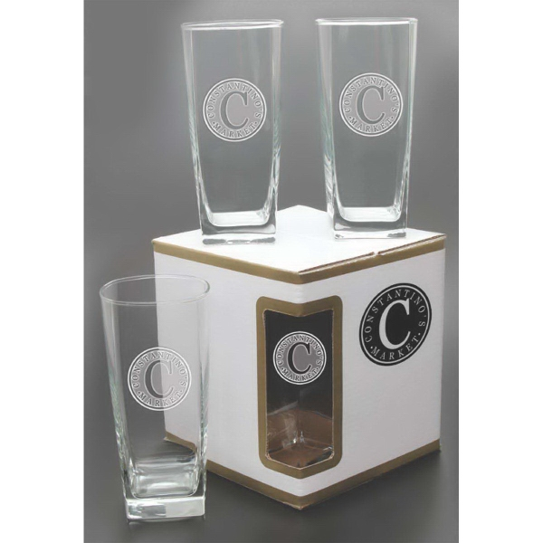 Customized Sterling Beverage Glasses - Set of 4