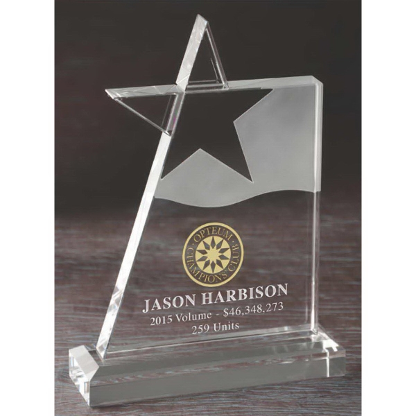 Promotional Optical Crystal Megastar Award