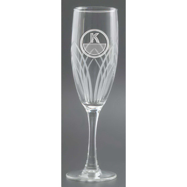 Customized Arches Cut Flute Champagne Glass - Set of 4