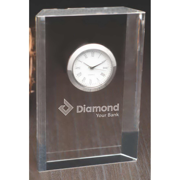 Customized Andrews Clock set in glass