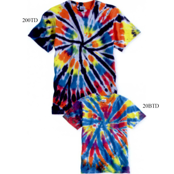 Promotional Tie-dyed Youth Rainbow Cut-Spiral T-Shirt