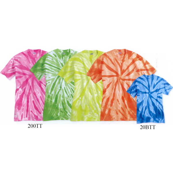 Customized Tie-Dyed Youth tone-on-tone pinwheel short sleeve T-Shirt
