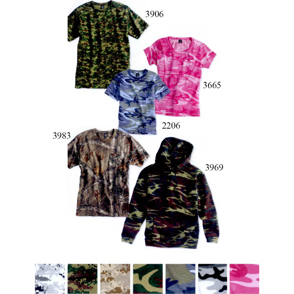 Promotional Code V Youth Camouflage T-Shirt