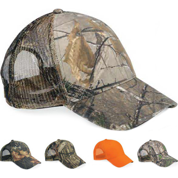 Custom Outdoor Cap Mesh Orange Cap
