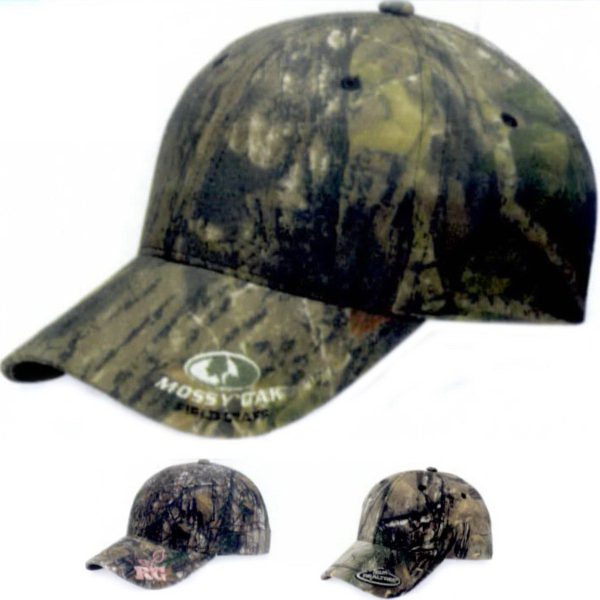 Imprinted Outdoor Cap Insignia Camo Cap