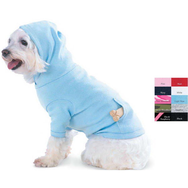 Printed Doggie Skins Hooded T-Shirt with Pouch Pocket