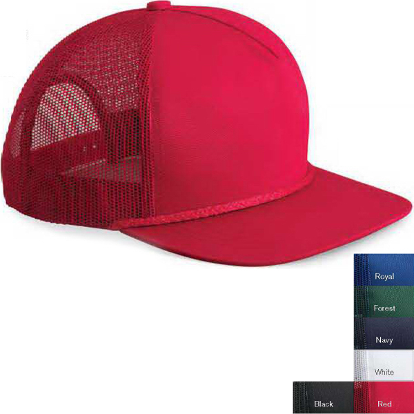 Customized Valucap 5-Panel Trucker Cap with Mesh Side Panels