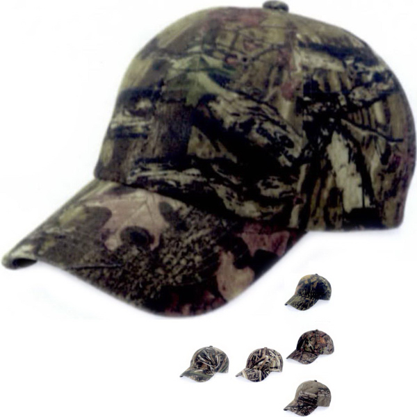 Customized Outdoor Cap Garment Washed Camo Cap