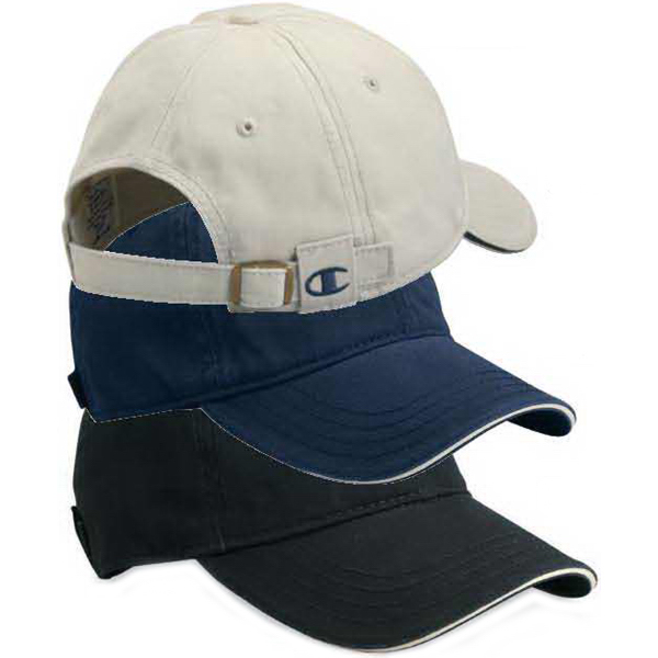 Personalized Champion (R) Sandwich Visor Bio Washed Twill Cap