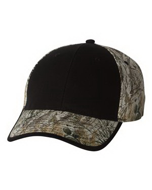 Promotional Kati Solid Front Camouflage Cap