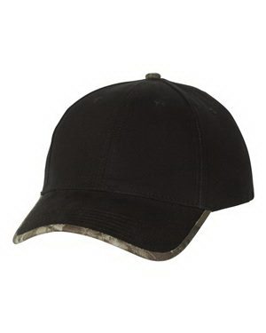Customized Kati Solid Cap with Camouflage Contrast Bill Cap
