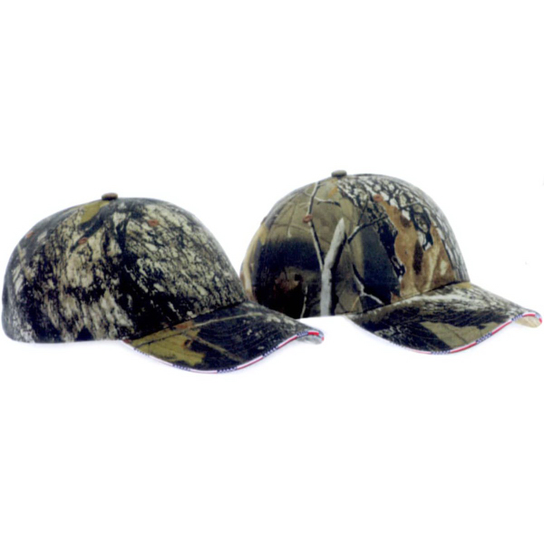 Promotional Kati Camouflage Cap with American Flag Sandwich Bill