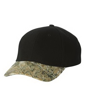 Imprinted Kati Structured Solid Crown Camouflage Cap