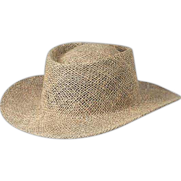 Personalized Peter Grimm Gambler Straw Hat with Underbrim