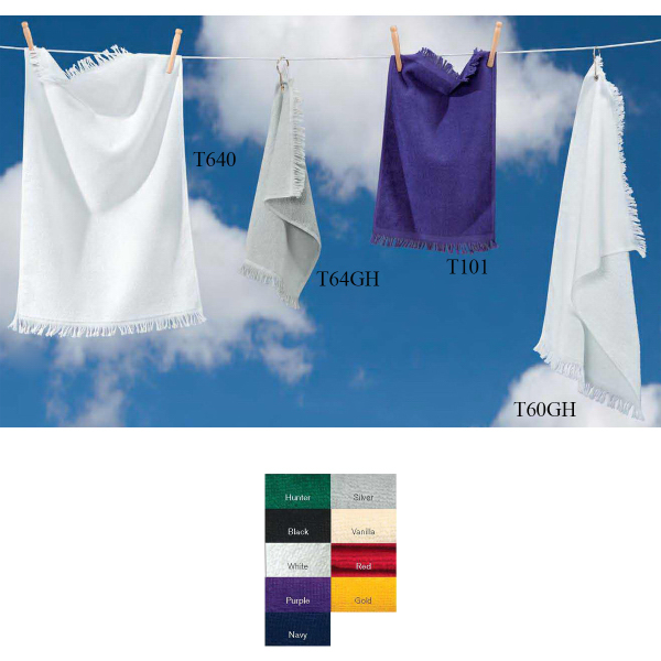 Customized Towels Plus (R) by Anvil Hand Towel with Grommet and Hook