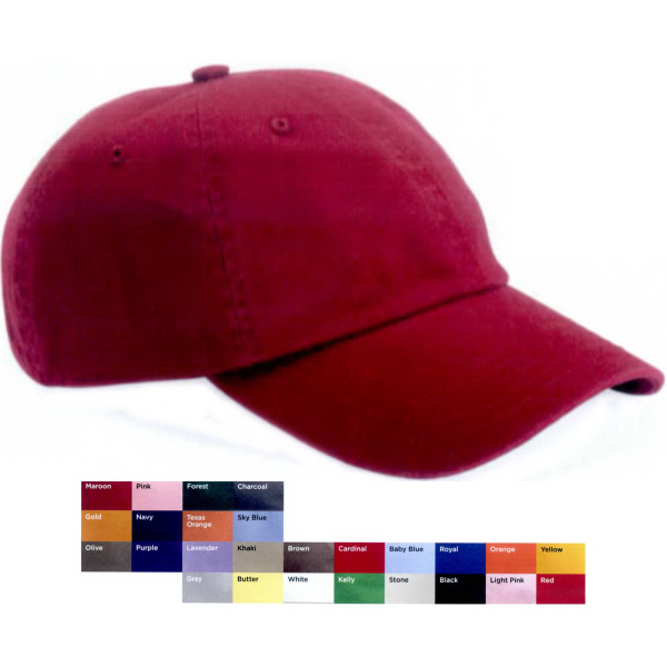 Promotional Valucap Youth Bio-washed Unstructured Cap