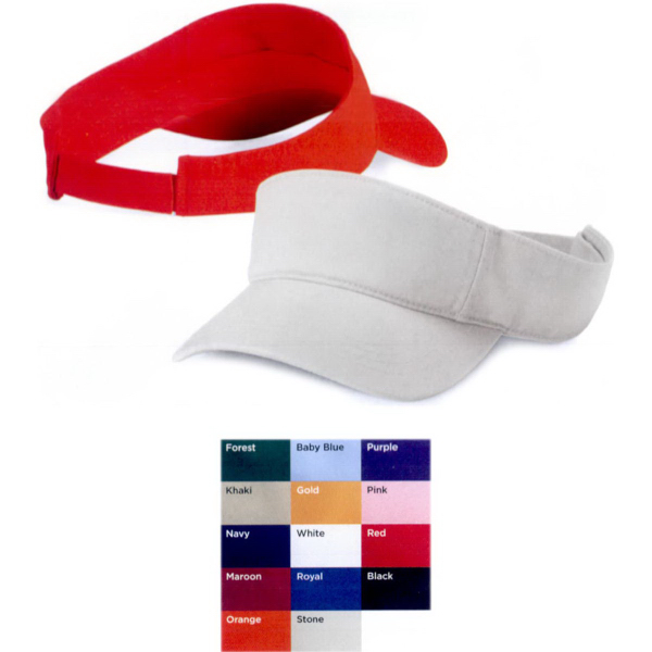 Personalized Valucap Bio-Washed Visor