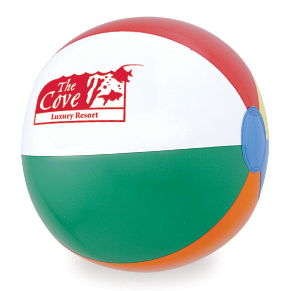 "Imprinted 12"" Small Assorted Panels Beach Ball"