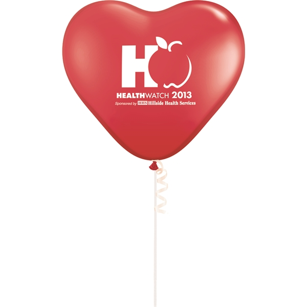 "Printed 11"" Heart Standard Color Latex Balloon"