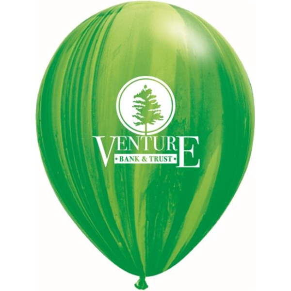 "Imprinted 11"" SuperAgate Latex Balloons"