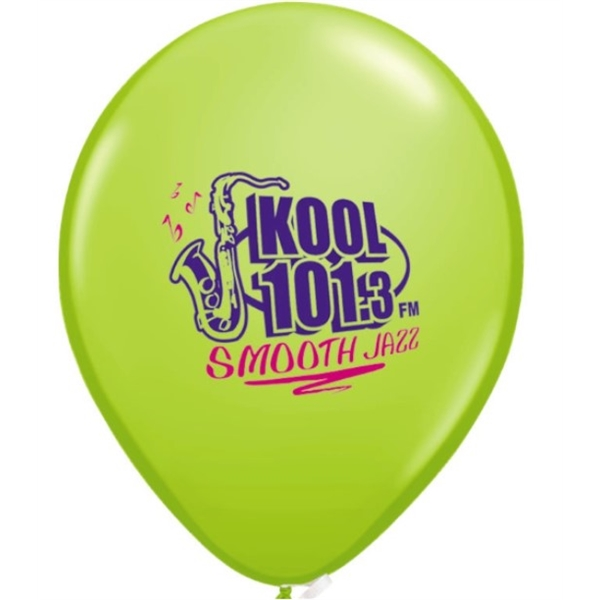 "Imprinted 11"" Jewel/Fashion 2-color/1-side Qualatex Balloon"