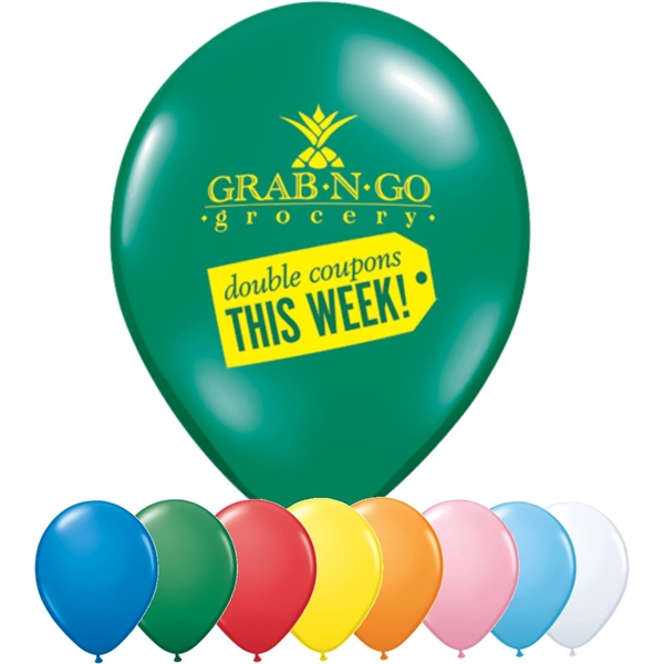 "Promotional 16"" Qualatex Latex Balloon-Standard Colors"