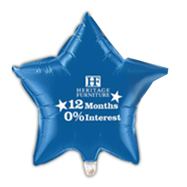 "Promotional 20"" Star Microfoil (R) Balloon Small Quantity"