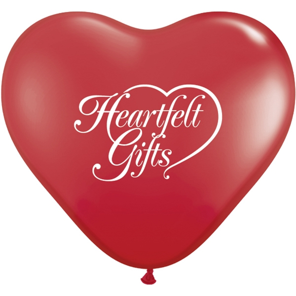 "Promotional 36"" Heart Giant Qualatex Latex Balloon"