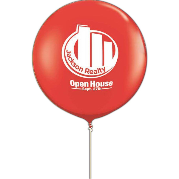 "Promotional 36"" Round Giant Latex Balloon-Jewel/Fashion Colors"