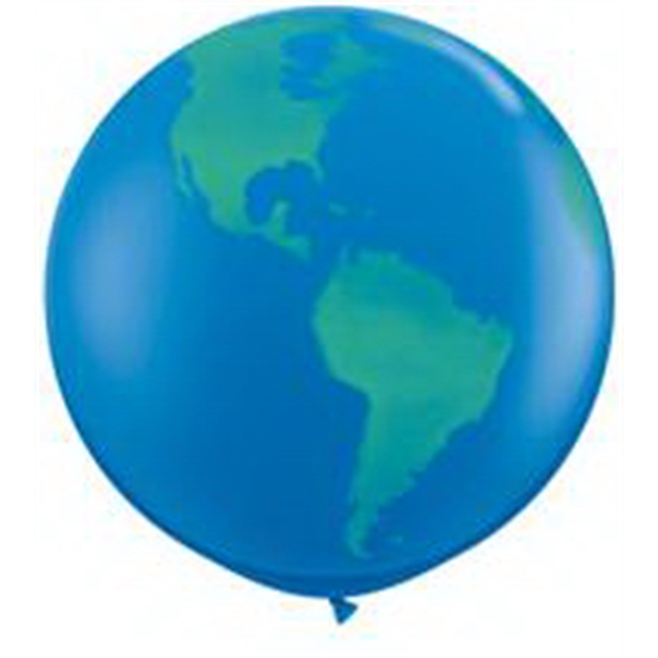 "Printed 36"" Giant Globe Balloon - Blank"